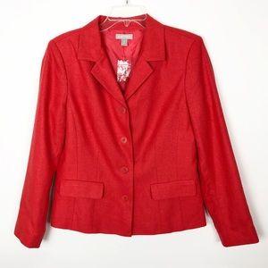 Nordstrom | Coral Silk Four Button Blazer NWT